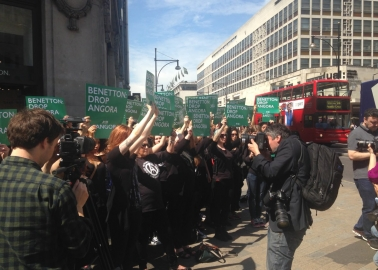 Benetton Feels the Heat on Angora Day of Action