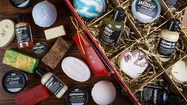 Lush products montage