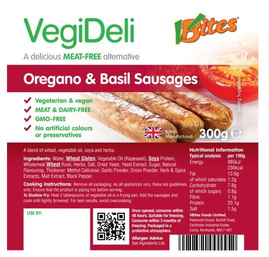 VegiDeli Sausages
