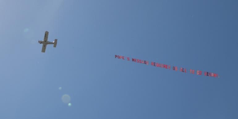 PETA Rome Banner
