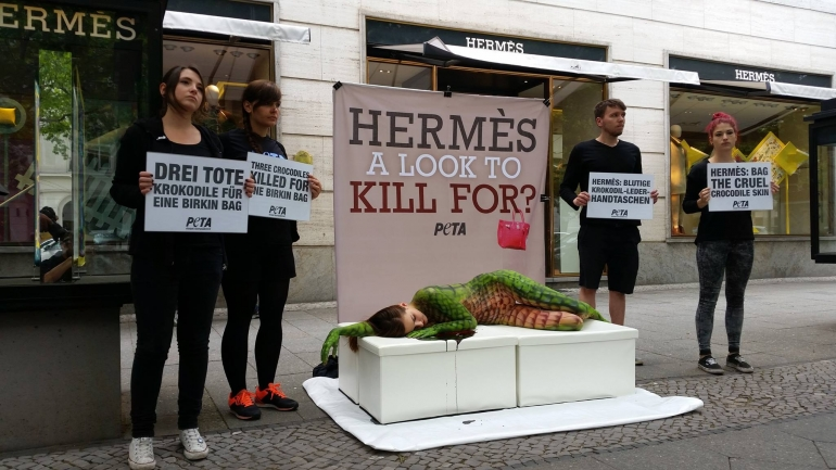 PETA Germany Hermes Protest