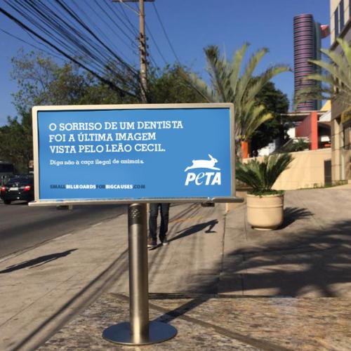 PETA Tiny Billboard - Brazil