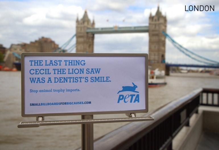 PETA Tiny Billboard -London, UK 2