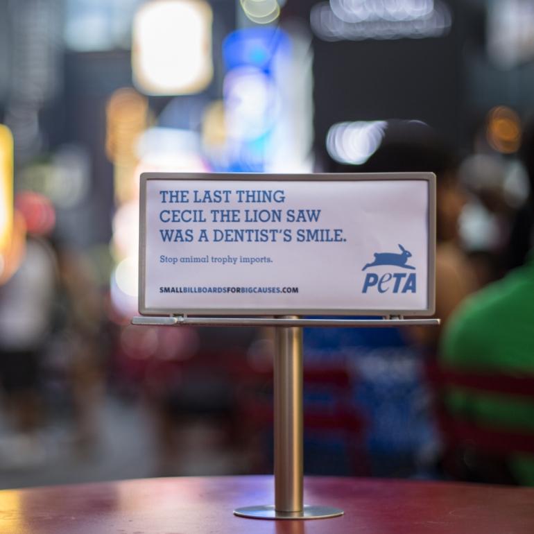 PETA Tiny Billboard - New York 2