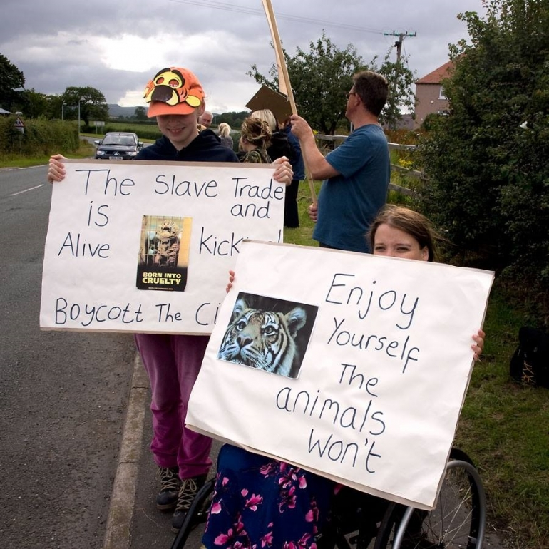 welsh circus protest
