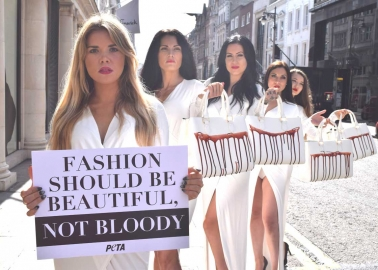 Protest against cruel exotic skins