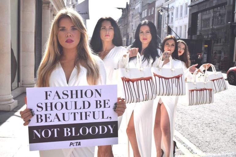 Protest against cruel exotic skins