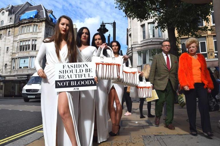 Exotic skins protest Bond Street