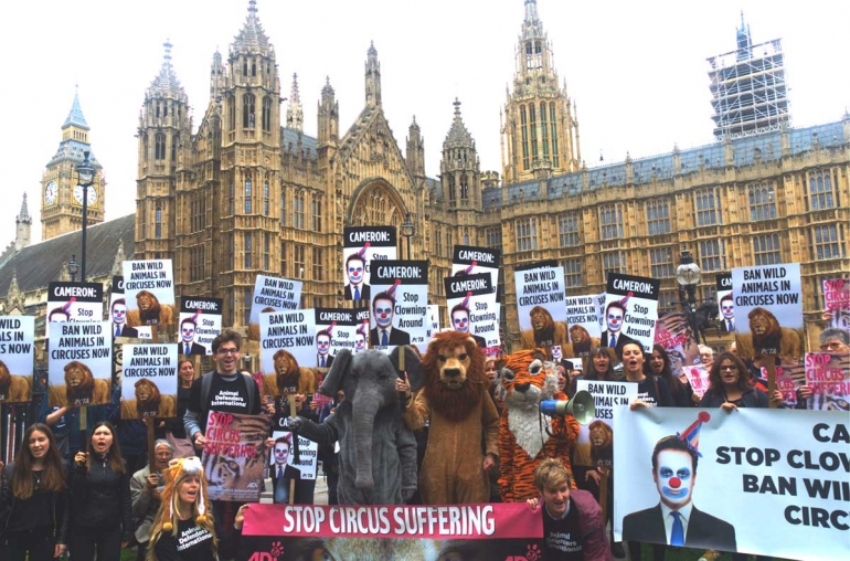 Westminster protest for circus animals