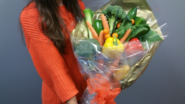 veg bouquet for Kerry McCarthy
