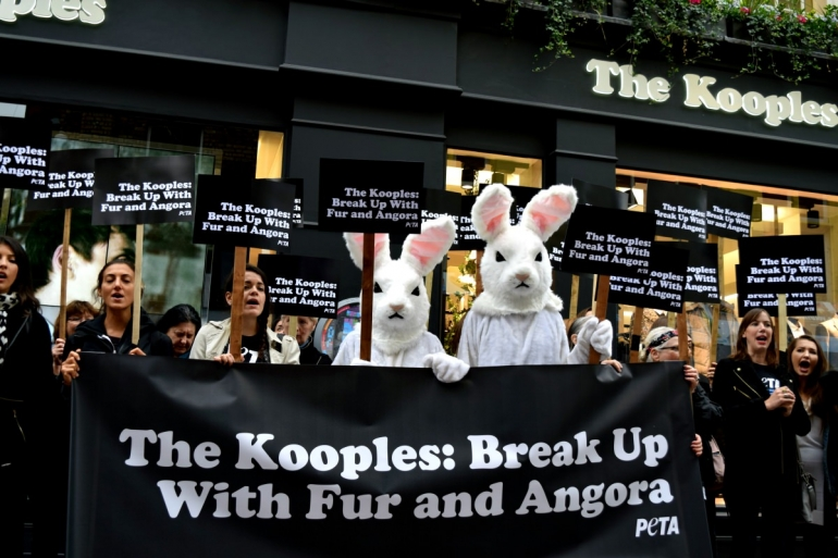Kooples protest on Carnaby Street
