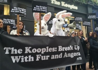 Break Up With Fur and Angora! People All Over the World Protest The Kooples