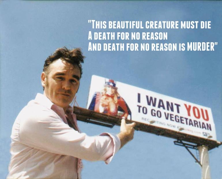 Morrissey billboard Meat is Murder
