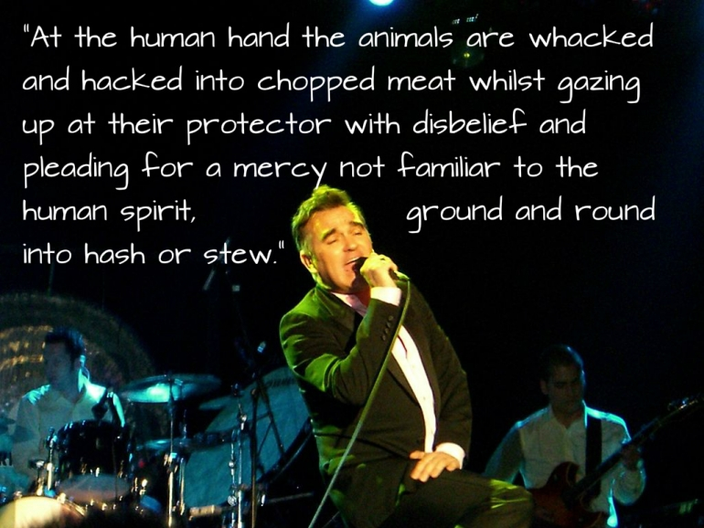 Morrissey sings novel quote CC