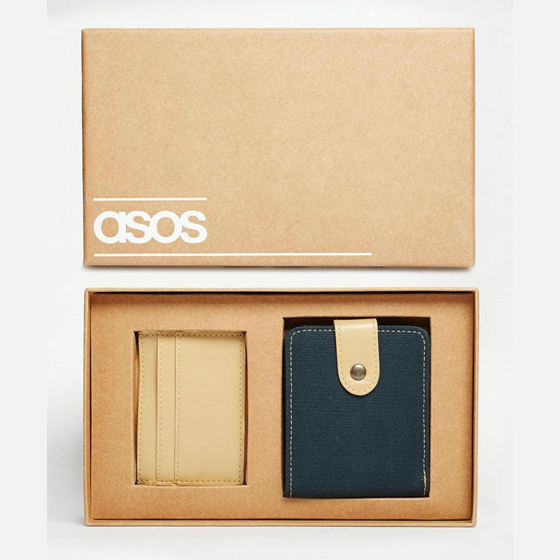 This Gift Set From ASOS Makes A Perfect Alternative To Leather Wallet It Includes Both Slim Faux Card Holder For Men On The Go And Larger