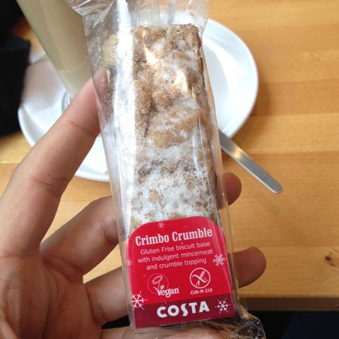 Vegan Christmas Costa Crumble