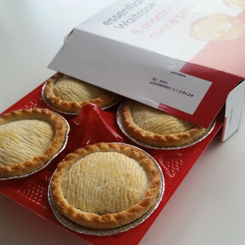 Vegan Christmas Waitrose Mince Pies