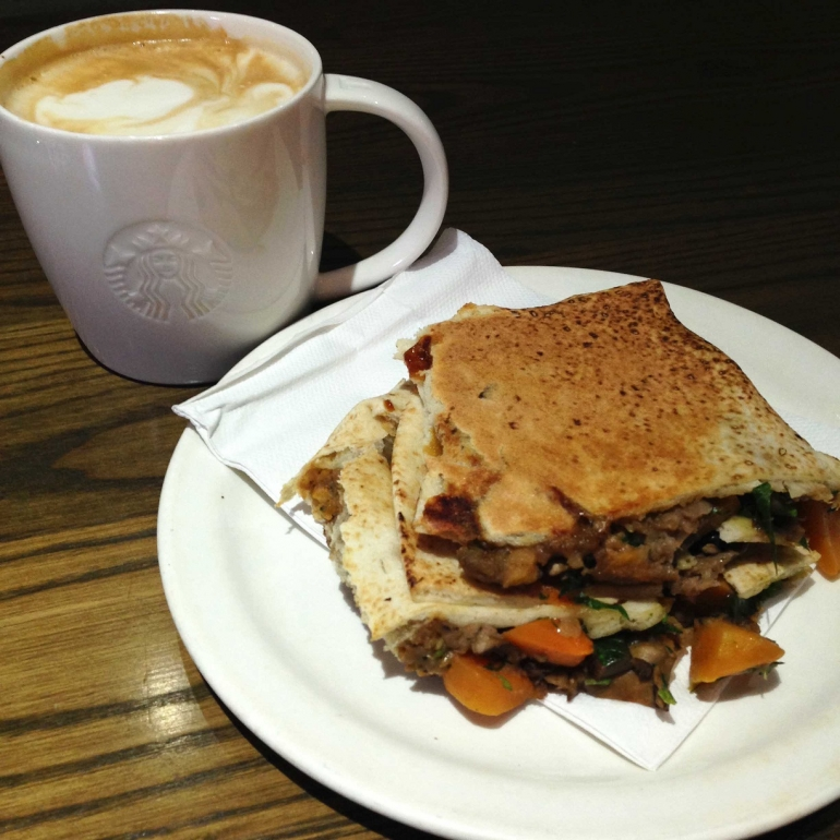 Starbucks Veggie Flatbread Vegan Christmas
