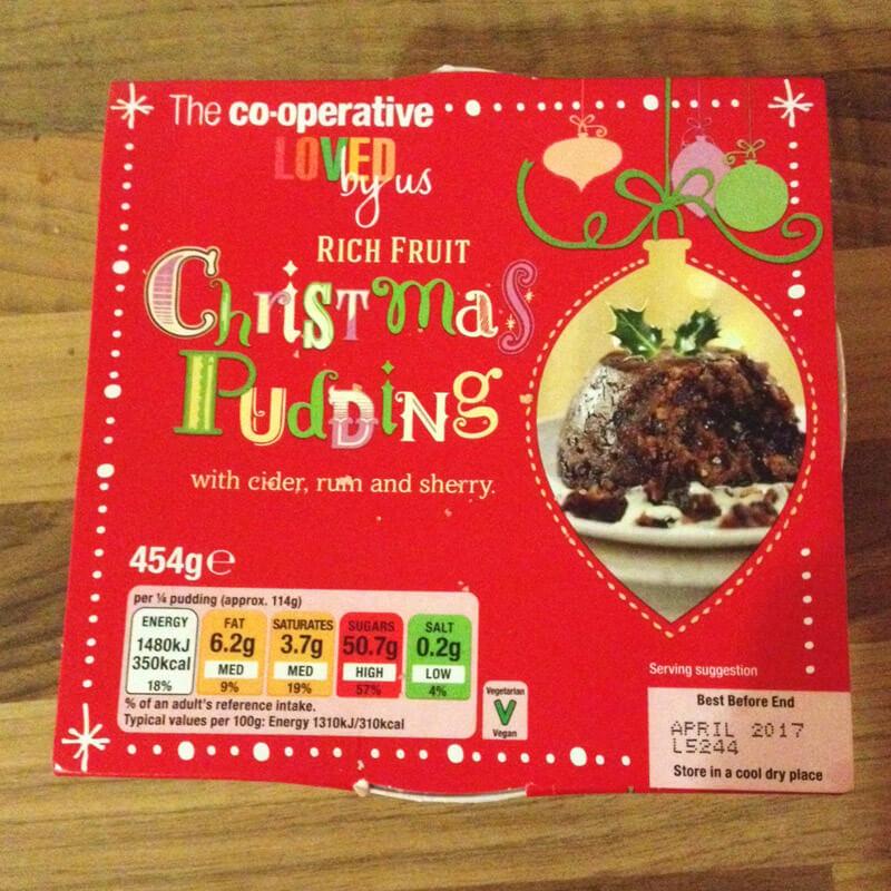 Co-operative Vegan Christmas Pudding