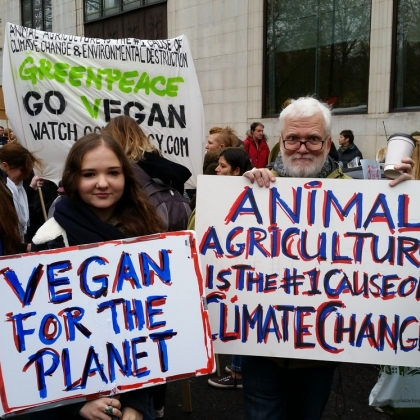 15 Wonderful Pro-Vegan Signs Spotted at the London #ClimateMarch