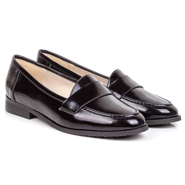 Beyond Skin Vegan Leather Black Loafers