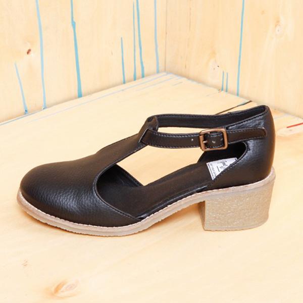 Good Guys Vegan Leather Black Heels