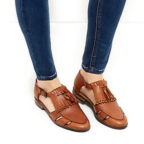 New Look Ladies Tan Loafers