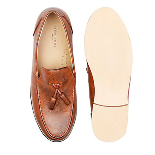 New Looks Mens Tan Loafer Shoes