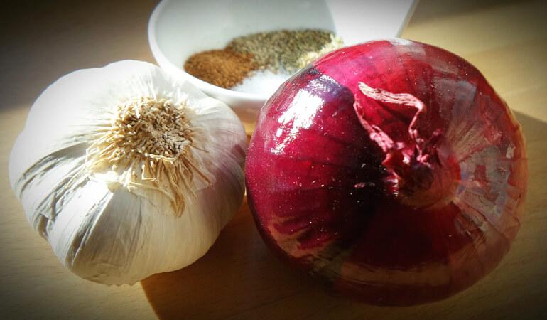 Onion Garlic Herbs