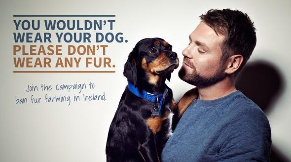 Brian McFadden Stars in New PETA Ad Calling for Ban on Irish Fur Farms