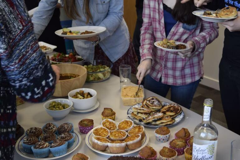 Staff Potluck Vegan Food
