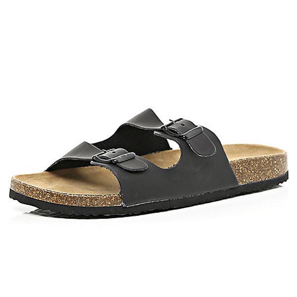 River Island Mens Black Sandals
