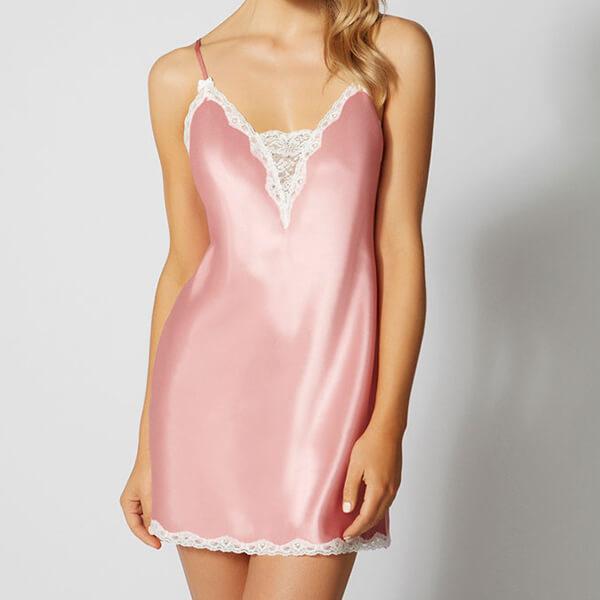 Boux avenue chemise pink satin