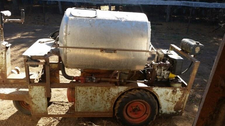 Gas-chamber on fur farm