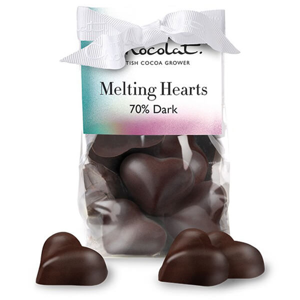 Hotel Chocolat dark chocolate hearts vegan