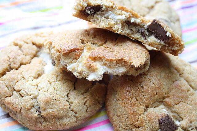 chocolate marshmallow vegan cookies