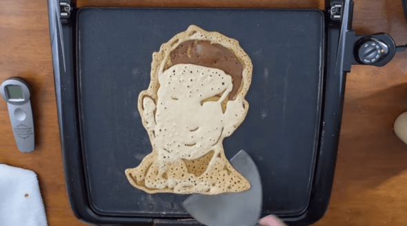 VIDEO: Pancake Artist Makes Faces of Famous Vegans for Shrove Tuesday