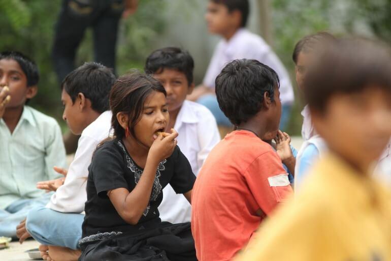 Children Eating Hunger