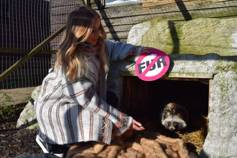 Lauren Pope Fur Donation Raccoon Dog
