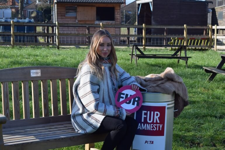 Lauren Pope Fur Donation