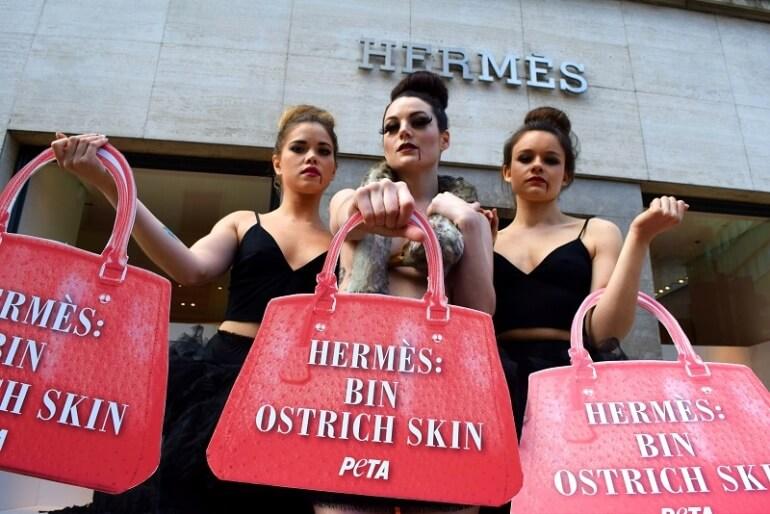 Hermes Ostrich Demo Protest