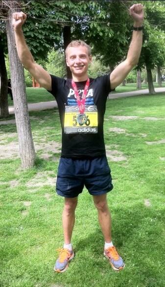 Andy Vegan London Marathon Runner