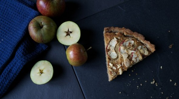 Apple Bakewell Tart Vegan British