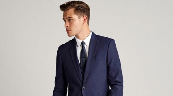 Next Navy Blue Vegan Suit