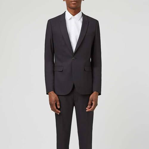 Topman Black Vegan Suit