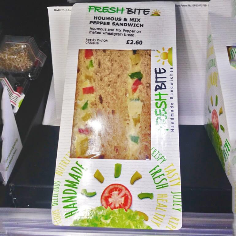 Budgens vegan sandwich