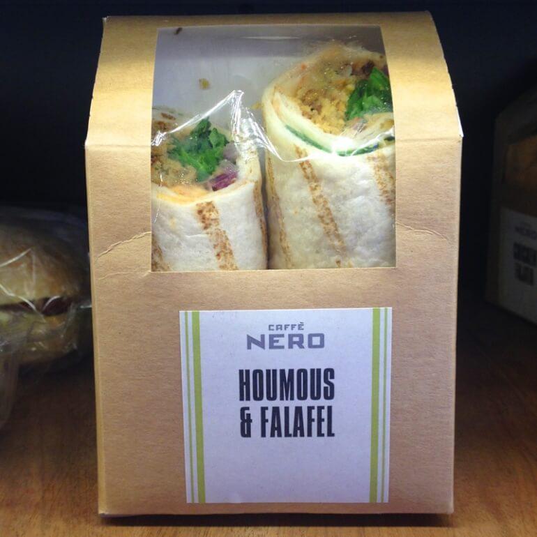 Caffe Nero Falafel Wrap Vegan