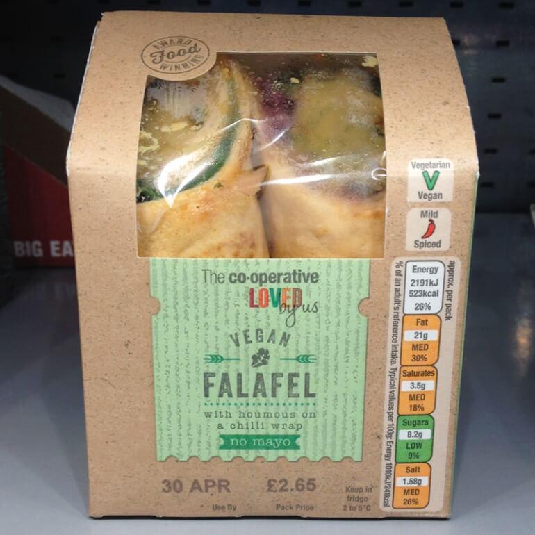 Co-operative falafel vegan wrap