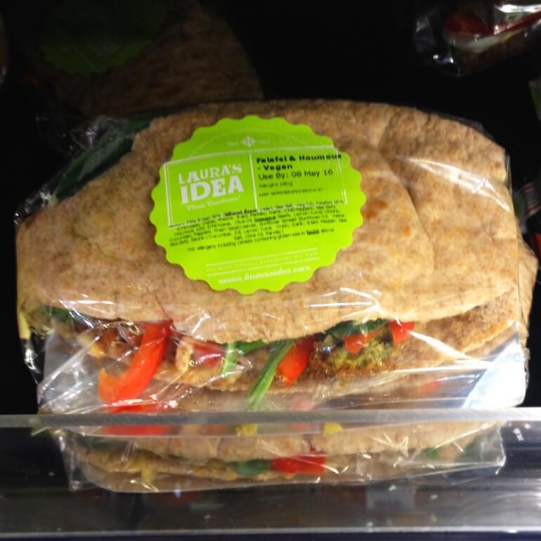 Laura's Idea Falafel Houmous Pita