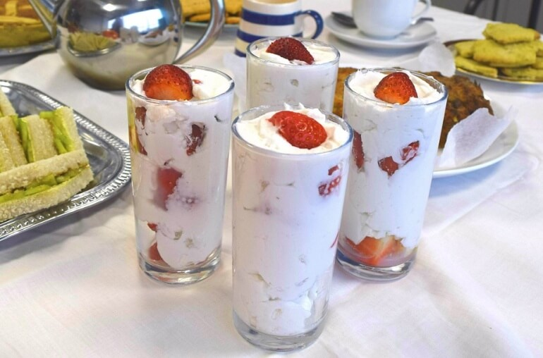 Strawberries and Cream Vegan British Summer Recipe